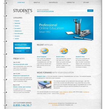 education website templates