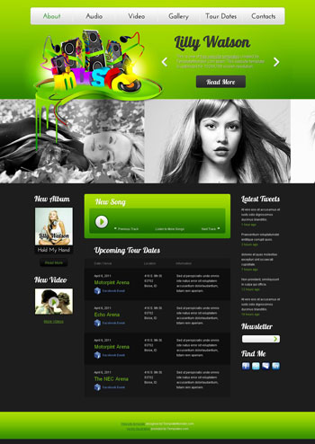 Website Templates Free Web Templates Free Templates - Music website templates