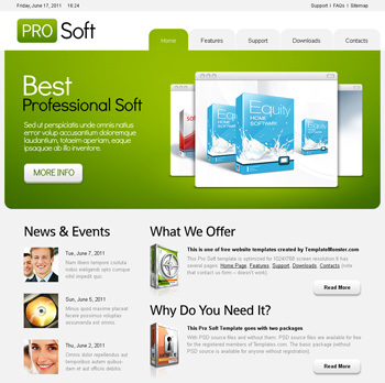 software company web template free